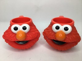 VTG Applause Sesame Street Elmo Cup Mug 3D Face Head Figural Character Red 2 - $49.27