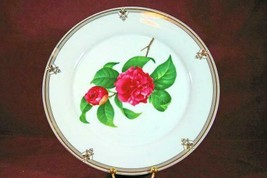 "Baum Bros Pink Rose Cake Plate & Server 10 3/4"" - $9.69"