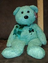 "14""  Shamrock Bear Ty Beanie Buddy New With Tags 2001 St. Patrick's Day - $6.99"