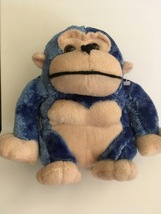 Blue Plush Gorilla, Stuffed Gorilla, King Plush, Gift Idea, Gift 4 Him/H... - $5.00