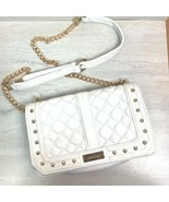 Bebe Quilted Cross Body Chain Purse White - $38.61