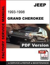 Jeep Grand Cherokee 1993 - 1998 Ultimate Factory Official Service Repair Manual - $14.95