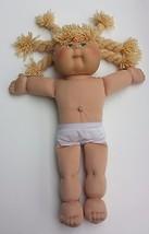 "Cabbage Patch Kids Girl Blond Yarn Hair 6 Braids Green Eyes 2004 18"" Dol... - $22.99"