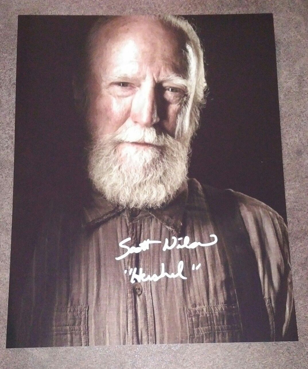 Primary image for Scott Wilson Hand Signed Photo The Walking Dead Hershell
