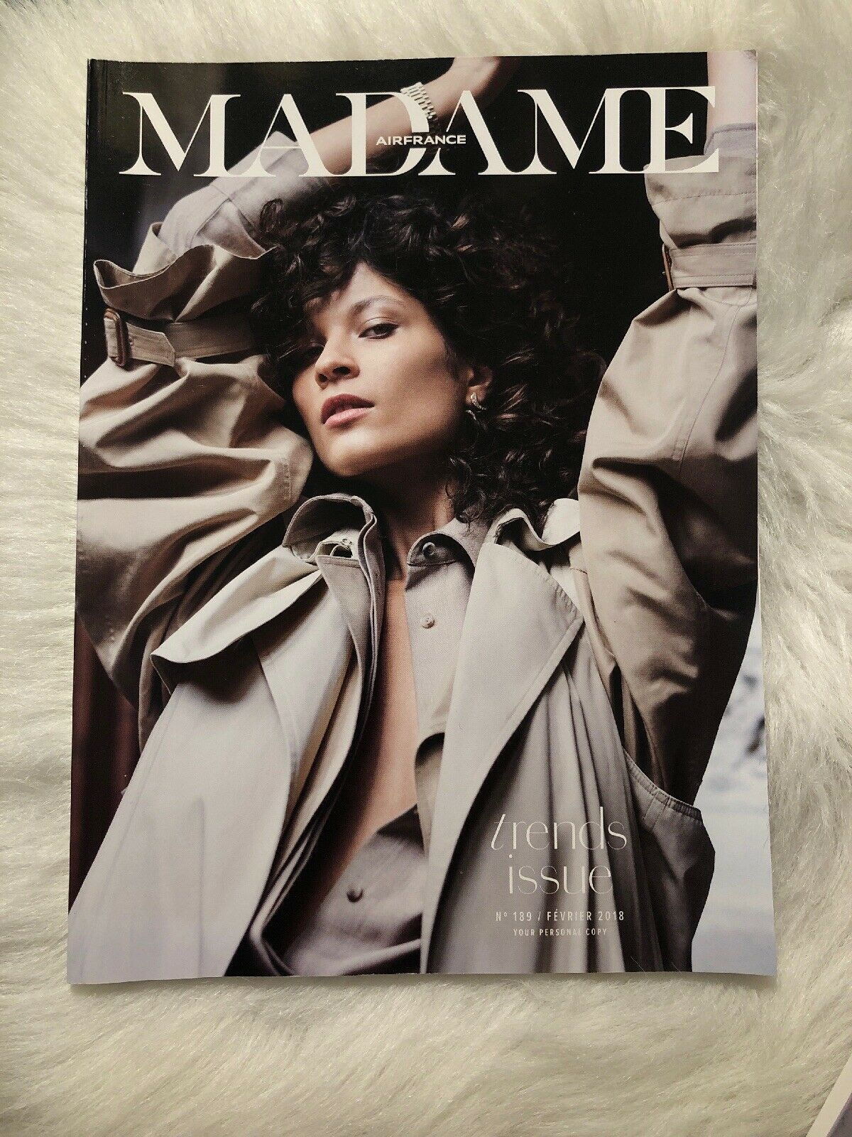 Primary image for NEW MADAME AIR FRANCE IN FLIGHT ON BOARD MAGAZINE February 2018 #189