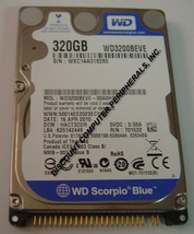 """NEW 320GB IDE 44PIN 2.5"""" 9.5MM Hard Drive WD WD3200BEVE Free USA Shipping"""