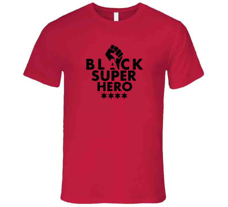 Black Super Hero - Heavy Metal T Shirt