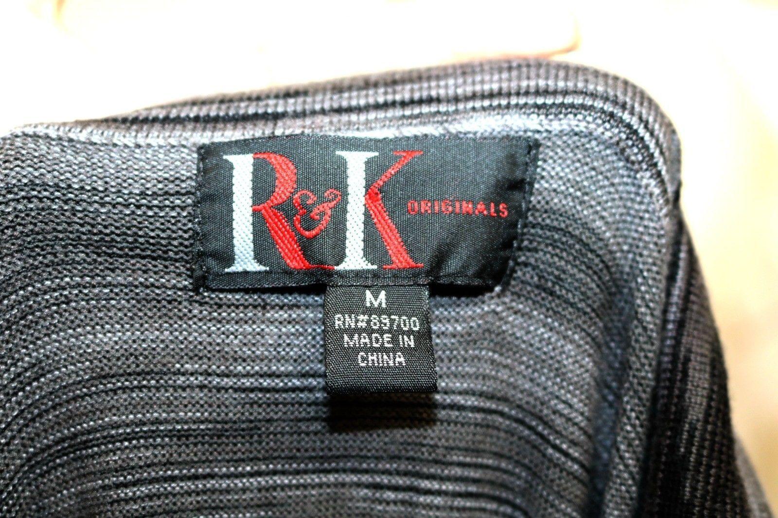 R&K Originals sz M Cowl Neck Sweater Dress Full Skirt Black White Variegated