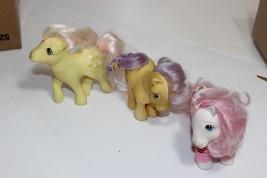 "My Little Pony Yellow pink purple Vtg  G1 1983 Hong Kong 4.5"" Sundance Lemon dro - $23.95"