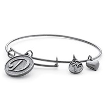 Palm Beach Jewelry Initial Charm Bangle Made With Swarovski Elements In Gold Tone - $15.82