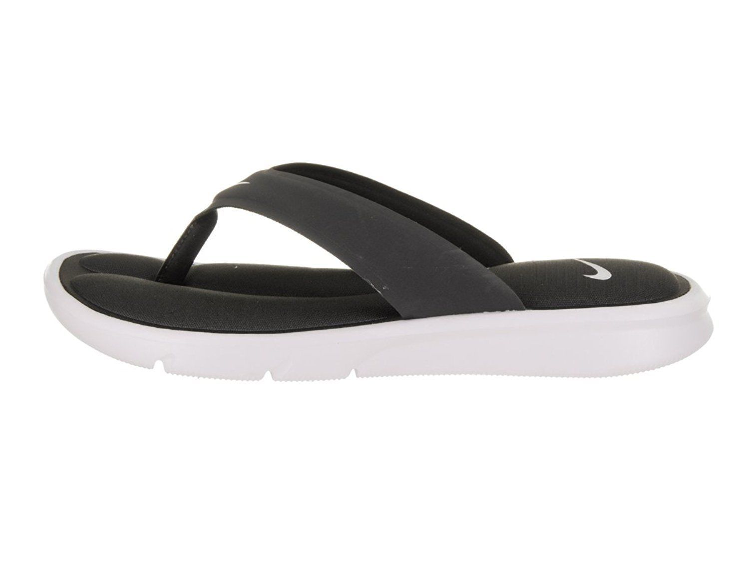 Women's Nike Ultra Comfort Thong Sandals, 882697 004 Size 6 Anthracite/White image 2