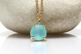 Bridal necklace,chalcedony necklace,prong pendant,gold necklace,14k gold... - $71.10+