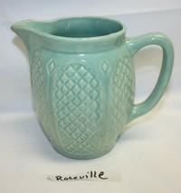 Vintage Roseville Vase Pottery Mint Green - $77.22