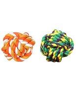 Panda Legends 2 Pcs Fist Ball Dog Toy Knot Rope Ball Chew Dog Puppy Toy ... - $15.49