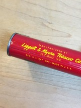 Vintage 50s Velvet Pipe & Cigarette Tobacco tin/packaging 1 5/8oz image 5