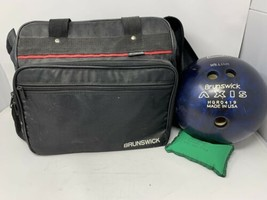 Brunswick Bowling Bad With 12lb Ball And Accessories - $48.51