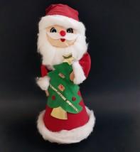Vintage Handmade Musical Rotating Santa Christmas Tree Music Box Jingle ... - $14.99