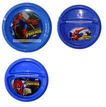 ZAK 1pc SPIDER-SENSE SPIDER-MAN Blue Plastic REUSABLE PLATE Marvel *YOU ... - $2.69