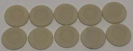 1984 - 1987 Axis & Allies Board Game Pieces - 10 White Plastic Chips - $7.83