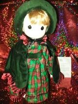 "NIB! COA, Christmas Precious Moments Porcelain Doll 14"" - $29.65"