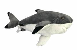 "Aurora Destination Nation Shark Grey Gray 16"" Ocean Plush Stuffed Animal... - $24.94"