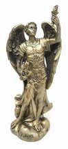 "Ebros Faux Bronze Saint Uriel The Archangel Statue 4.75"" Tall Patron of Confirma - $14.99"