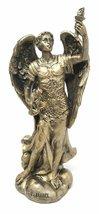 "Ebros Faux Bronze Saint Uriel The Archangel Statue 4.75"" Tall Patron of ... - $14.84"