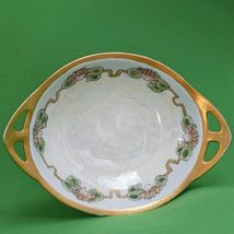 """Vintage (1926) 6"""" Lusterware Hand Painted And Signed Oval Bowl With Handles - $7.95"""