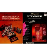 Miniature Iron-on Dollhouse pattern & Playscale Doll Townhouse Planbook ... - $18.99