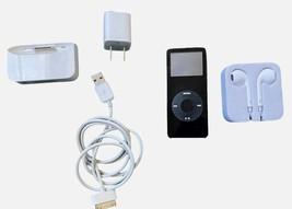 Apple ipod nano 4th gen 4 gb Black Ear Buds Charger Bundle Read - $37.23