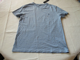 Men's Polo Ralph Lauren v neck T shirt soft s 661012 New Powder blue logo - $26.42