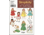 Simplicity 4347   18 inch doll clothes   archives pattern thumb155 crop