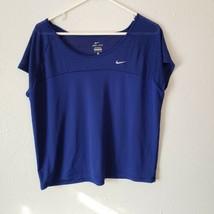 Women's Nike Dri-Fit XL Athletic Shirt Blue - $16.83