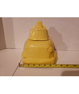 Vintage 352 USA Yellow Cab Taxi Bus Cookie Jar, Nice Collectible - $31.91