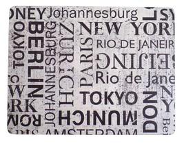 """4 X WORLD CITIES NEW YORK PARIS BLACK HEAT RESISTANT CORK PLACEMATS L13""""... - $20.62"""