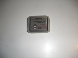 nikon compac flash sandisk ec-8cf    8mb - $1.25