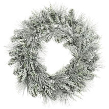 Darice Christmas Decor - Frost Gray Grey Mix Pine Artificail 24inch Wreath - $24.95