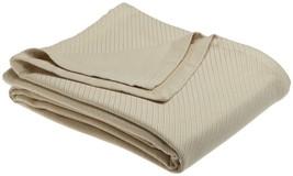 Sferra Opera Beige Twin Blanket Flax Solid 100% Cotton Woven Light Weigh... - $155.00