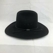 Stetson Western Cowboy Hat 4X Beaver Pelt Tyler Style Black Color Size 7... - $75.83