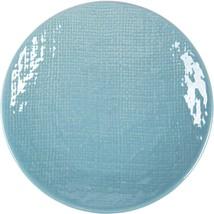 Burlap Country Blue 16 Piece Stoneware Dinnerware Set by Home Essentials - $105.88
