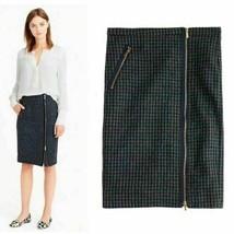 NWOT J. CREW  Wool Zipper Pencil Skirt Size 6 in Houndstooth Zip w/  Poc... - $39.59