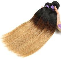 Cranberry Hair Ombre Brazilian Virgin Hair Straight Hair Weave 24inch Bundle Thr image 4