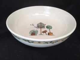 "Thomson Pottery Birdhouse Open Vegetable Bowl 9.25"" Diameter 2 3/4"" Deep - $18.80"