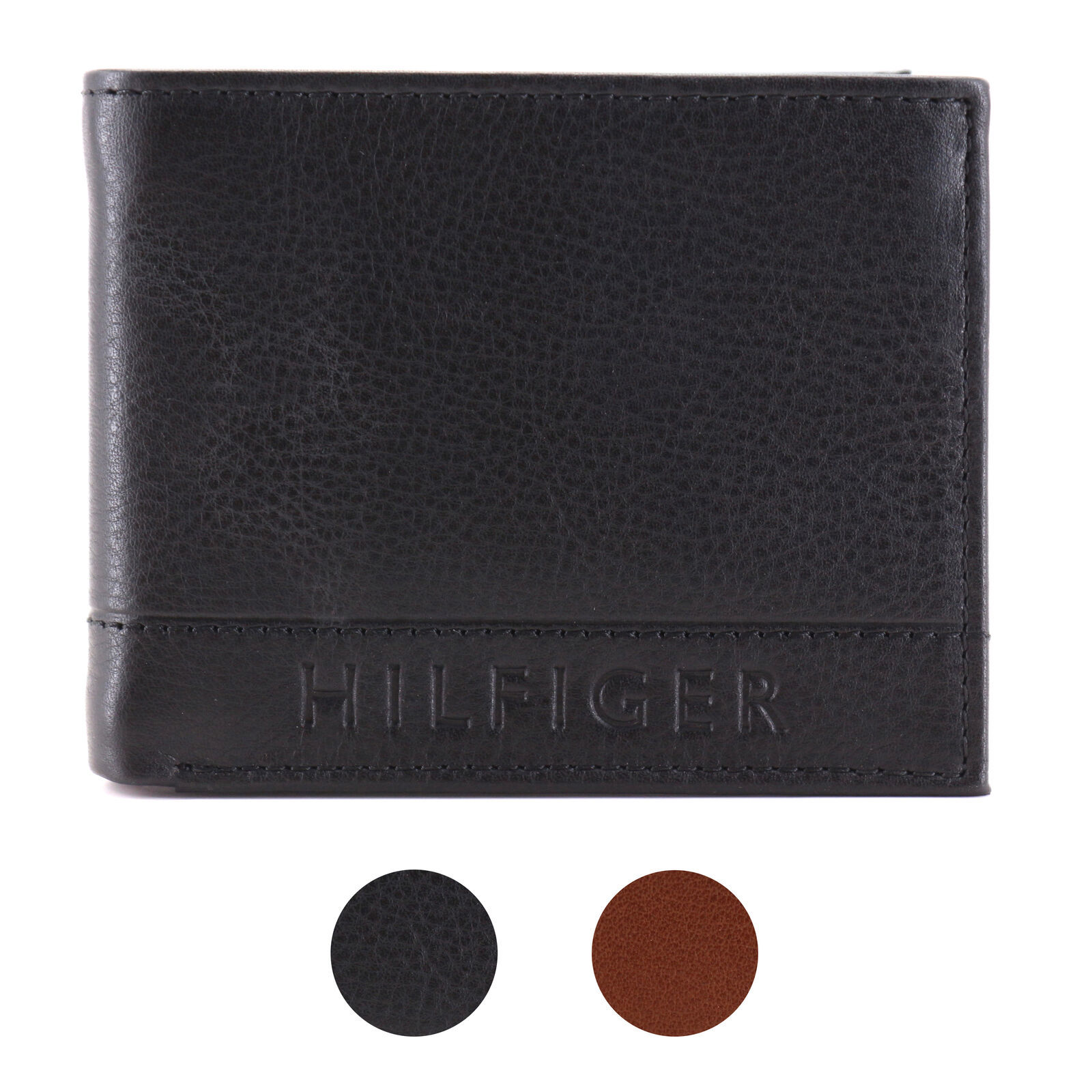 Tommy Hilfiger Men's Leather RFID Fixed Passcase Wallet Billfold 31TL220084