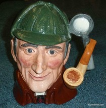 """Royal Doulton """"The Sleuth"""" Character Toby Jug D6631 Collectible Detectiv... - $121.24"""