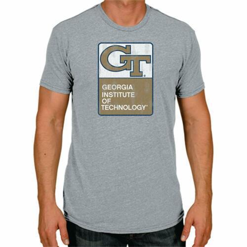 XXL Men's Georgia Tech The Victory Retro Brand Triblend Tee Shirt T-Shirt NEW