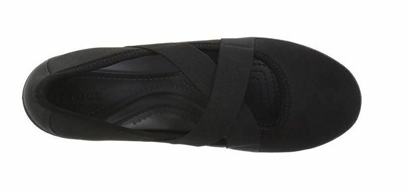 New Crocs Women's Busy Day Strappy Wedge Shoes Black Variety Size image 6