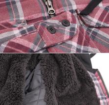 Tony Hawk Men's Casual Flannel Zip Up Plaid Sherpa Hoodie Lightweight Jacket image 4