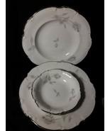 "Set Of 3 Hutschenreuther China Sylvia  Bowls 2)8 1/2"" / 1)5 1/2"" platinu... - $15.84"