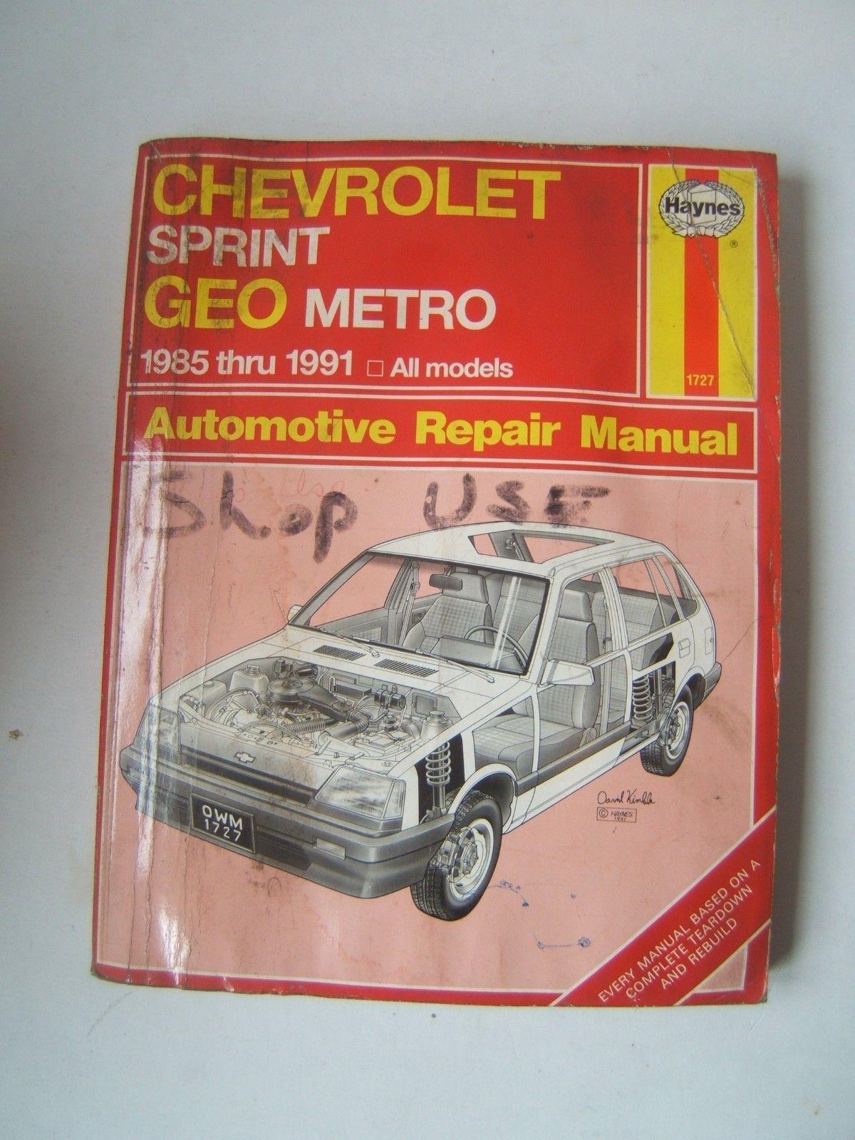 chevrolet sprint geo metro haynes repair and 13 similar items rh bonanza com Haynes Manuals for 2003 Jeep Haynes Manuals UK
